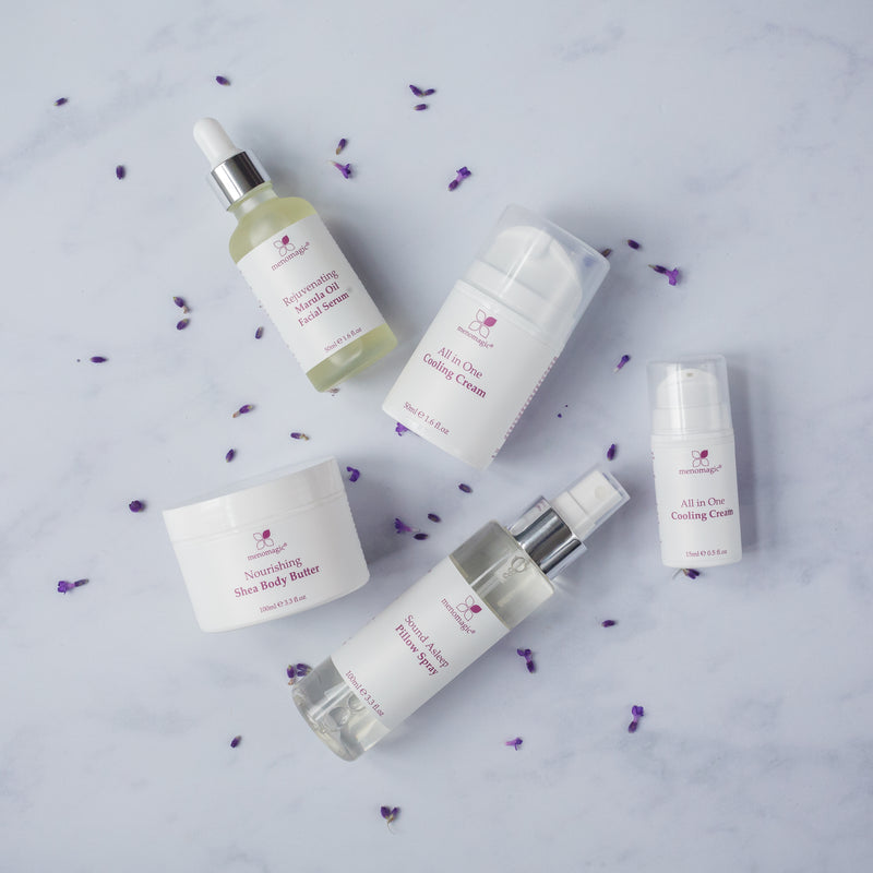 Menomagic is a natural menopause range made in the Cotswolds