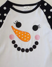 Load image into Gallery viewer, Girl's Ruffle Snowman Top