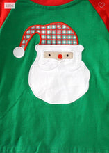 Load image into Gallery viewer, Green & Red Santa Tee