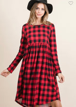 Load image into Gallery viewer, Buffalo Plaid Dress