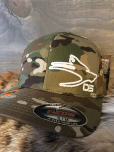 "Dog Soldier Multi cam Flex Fit ""White Logo"