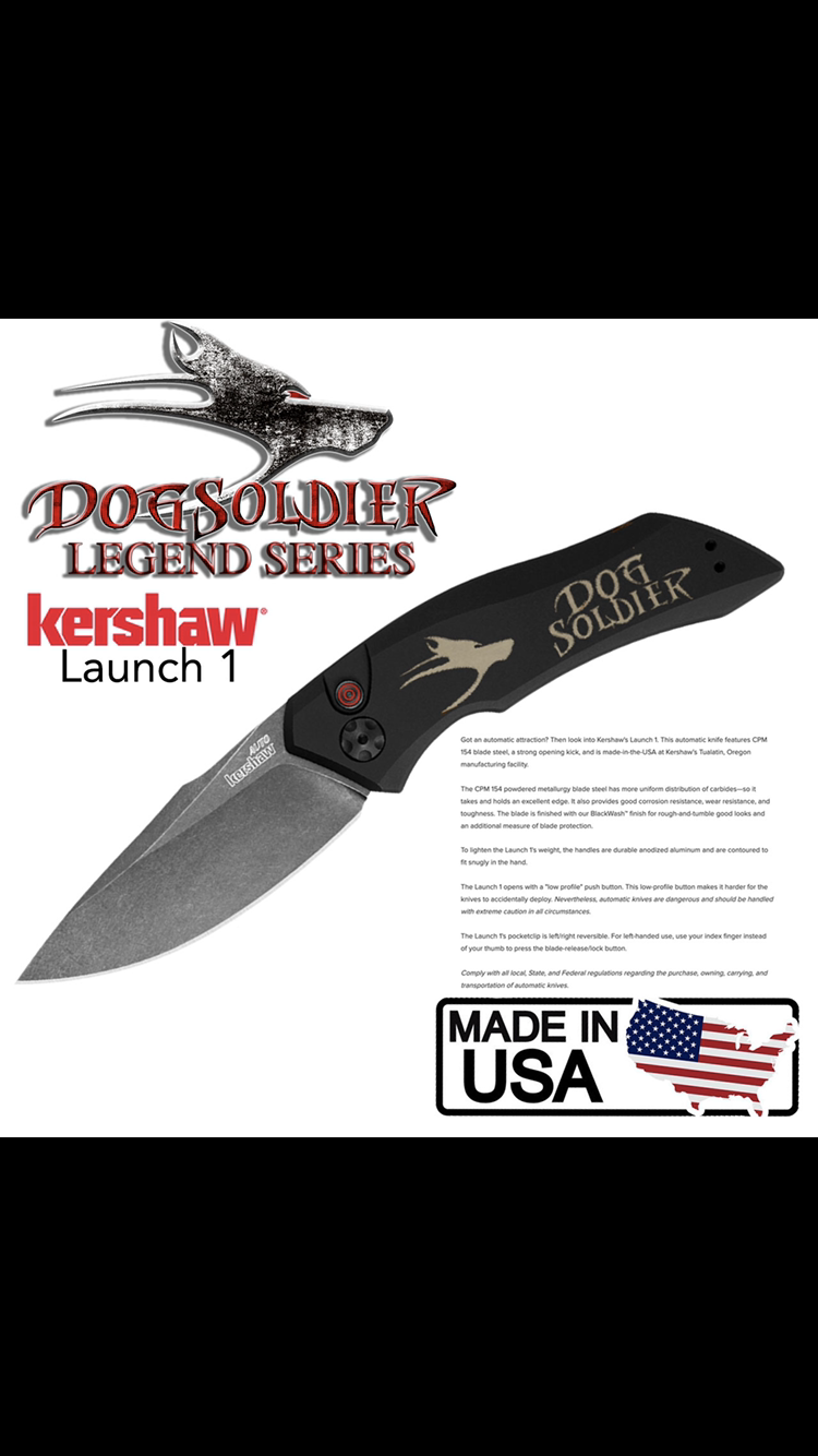 Dog Soldier Legend Series Kershaw knife Launch 1