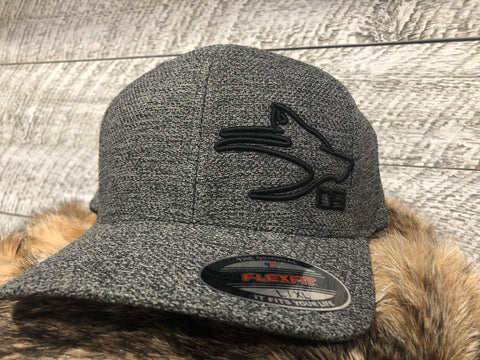 Dog soldier heather gray flex fit hat