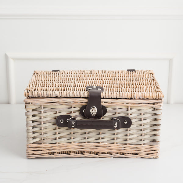 CESTA PICNIC BROWN WICKER