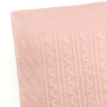Load image into Gallery viewer, PINK TWISTY CASHMERE BABY BLANKET 3