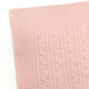 PINK TWISTY CASHMERE BABY BLANKET 3