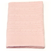 Load image into Gallery viewer, PINK TWISTY CASHMERE BABY BLANKET 1