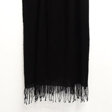 Load image into Gallery viewer, BASAL BLACK CASHMERE SCARF