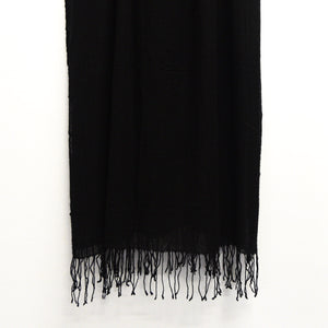 BASAL BLACK CASHMERE SCARF