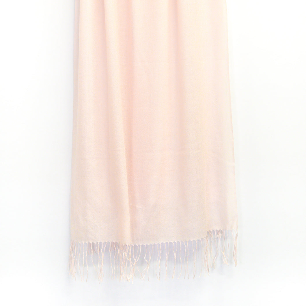 BASAL LIGHT PINK CASHMERE SCARF