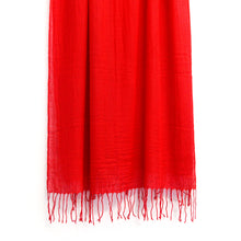 Load image into Gallery viewer, BASAL RED CASHMERE SCARF