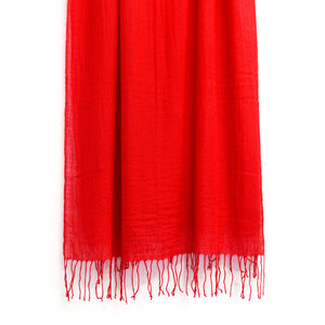 BASAL RED CASHMERE SCARF