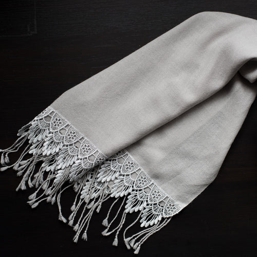 FESTIVITY FEATHER WOOL SCARF