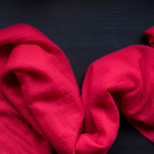 BASAL RED CASHMERE SCARF 2