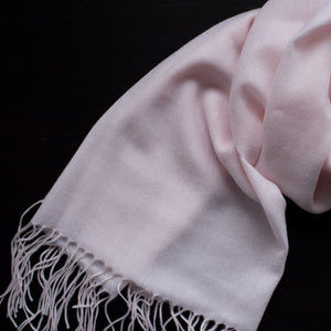 BASAL LIGHT PINK CASHMERE SCARF 2