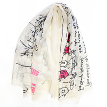 Load image into Gallery viewer, FJORD CRUISE IVORY CASHMERE SCARF 3