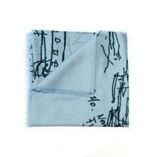 Load image into Gallery viewer, FJORD CRUISE BLUE CASHMERE SCARF 3