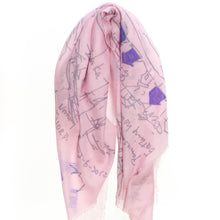 Load image into Gallery viewer, FJORD CRUISE PINK CASHMERE SCARF 3
