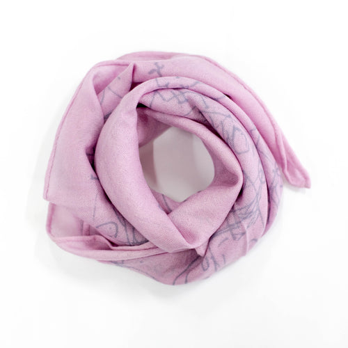 FJORD CRUISE V LIGHT PINK CASHMERE SCARF