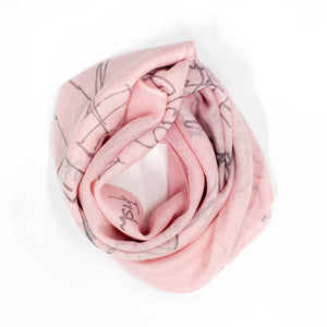 FJORD CRUISE II LIGHT PINK CASHMERE SCARF
