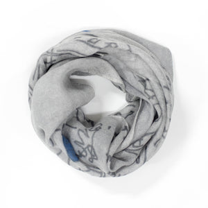 FJORD CRUISE II GREY CASHMERE SCARF