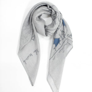 FJORD CRUISE II GREY CASHMERE SCARF 2