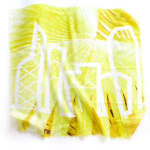 MODERN YELLOW CASHMERE NECK SCARF