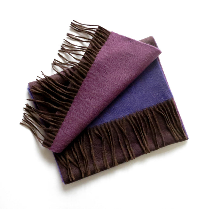 TC BLUE AND PURPLE CASHMERE SCARF