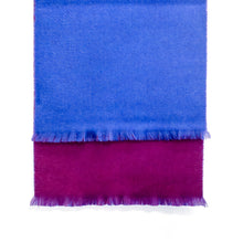 Load image into Gallery viewer, DOUBLESIDE BLUE-PURPLE CASHMERE-WOOL SCARF