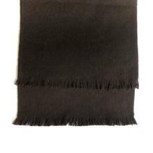 Load image into Gallery viewer, DOUBLESIDE BLACK-BLACK CASHMERE-WOOL SCARF