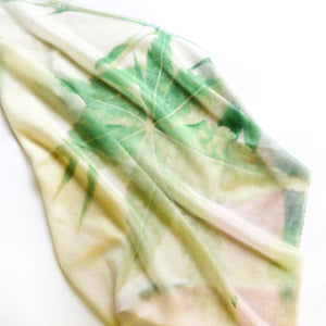 LFNATURE LIGHT GREEN CASHMERE NECK SCARF 2