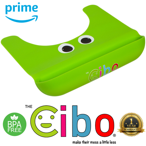 The Cibo Crumb Catcher Silicone Placemat for Babies, Toddlers, & Kids - Catch The Mess *Before* It Hits Your Kitchen Floor! (Green)