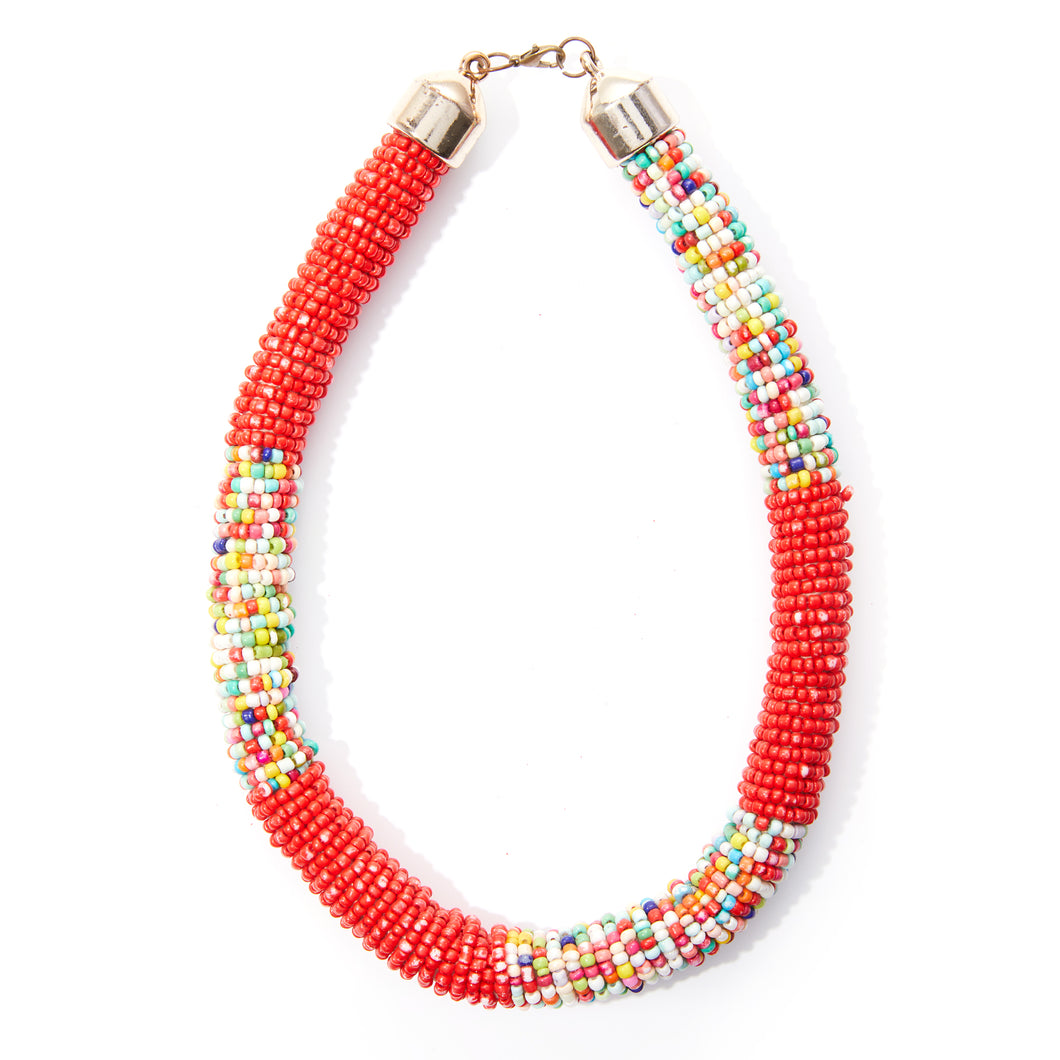 Microbead Multicolor Necklace