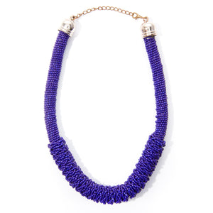 Solid Purple Microbead Necklace