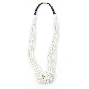 White Rope Micro-beaded Necklace