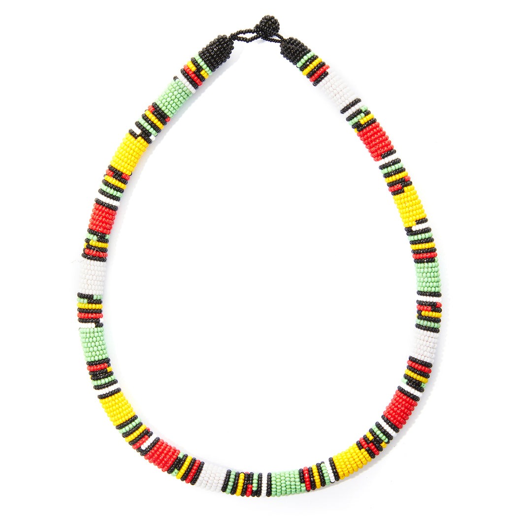 Mixed Colors Maasai & Zulu Tribe Necklace