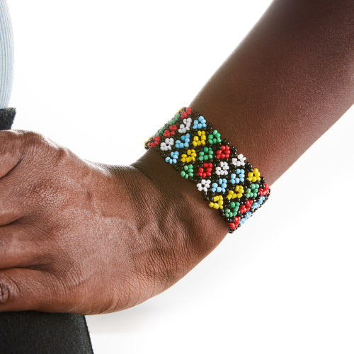 Beaded Massai Stretch Bracelet