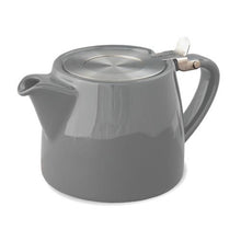 simple Ceramic Teapot with Loose Tea Infuser - Assorted colors