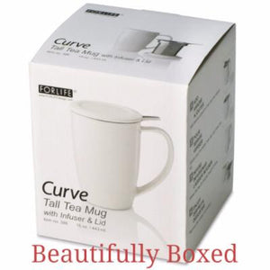 Boxed Ceramic Tea Cup with Infuser & Lid
