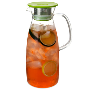 Infuser pitcher with strainer lid