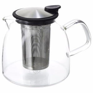 Glass Teapot with Stainless Steel Steeper