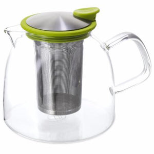 Glass Teapot with infuser basket - Microwave safe