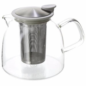 Loose Leaf stainless steel infuser tea pot. Bora silicate micro wave safe