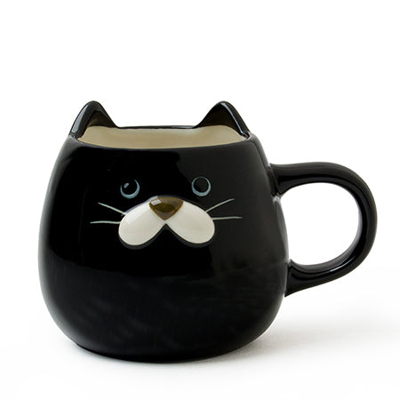 Cat Ears - Japanese Tea Mug Black