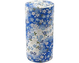 Blue Japanese Washi Tea Tin