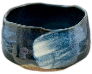 Blue hand made Matcha bowl from Japan