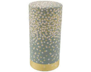 Gray Japanese Washi Tea Tin