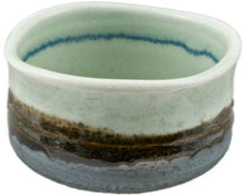 Aqua and brown made Matcha bowl from Japan