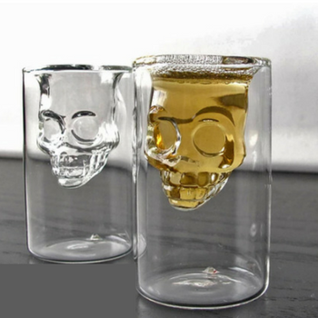 Skull shot glasses. Double walled
