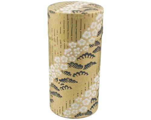 Gold Japanese Washi Tea Tin